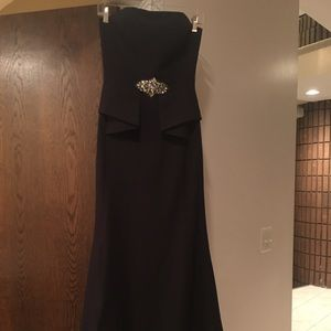 Aidan Mattox black evening gown
